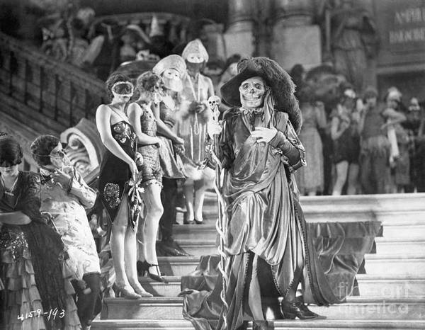 People Art Print featuring the photograph Lon Cheney In Phantom Of The Opera by Bettmann