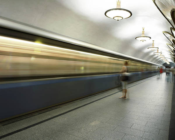 People Art Print featuring the photograph Moscow Metro by Fmajor