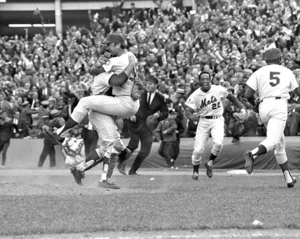 American League Baseball Art Print featuring the photograph N.y. Mets Defeat The Baltimore Orioles by New York Daily News Archive