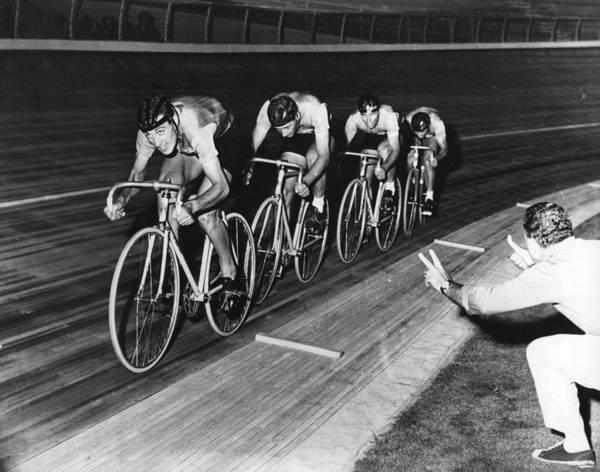 The Olympic Games Art Print featuring the photograph Pedal Power by Central Press