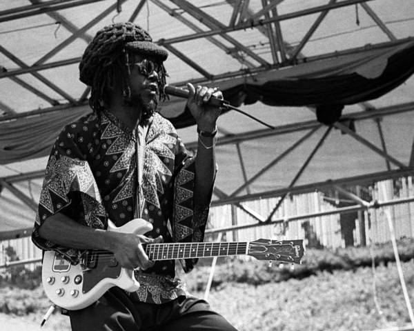 Music Art Print featuring the photograph Peter Tosh Live by Larry Hulst