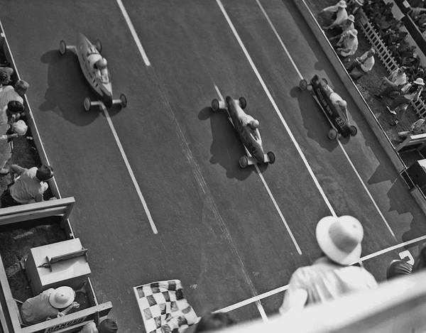 1940-1949 Art Print featuring the photograph Soap Box Derby by Fpg