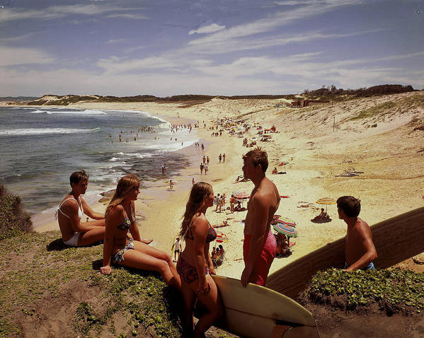 Equipment Art Print featuring the photograph Surfers & Girls In Bikinis, Soldiers by Robin Smith