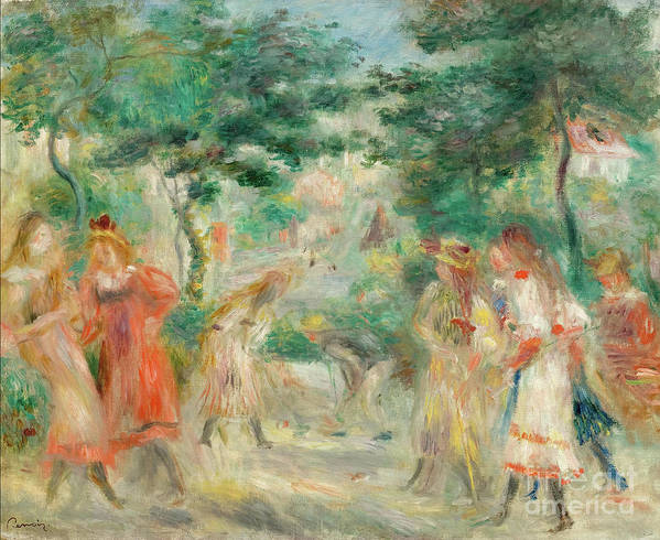 Oil Painting Art Print featuring the drawing The Croquet Party Girls In The Garden by Heritage Images