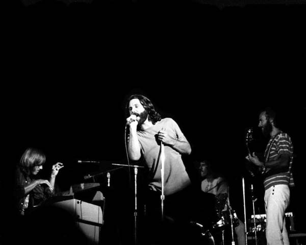 Music Art Print featuring the photograph The Doors Live by Larry Hulst