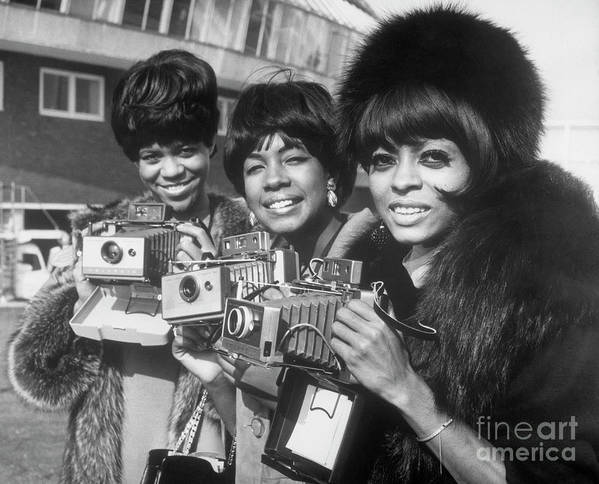 Singer Art Print featuring the photograph The Supremes With Cameras In London by Bettmann