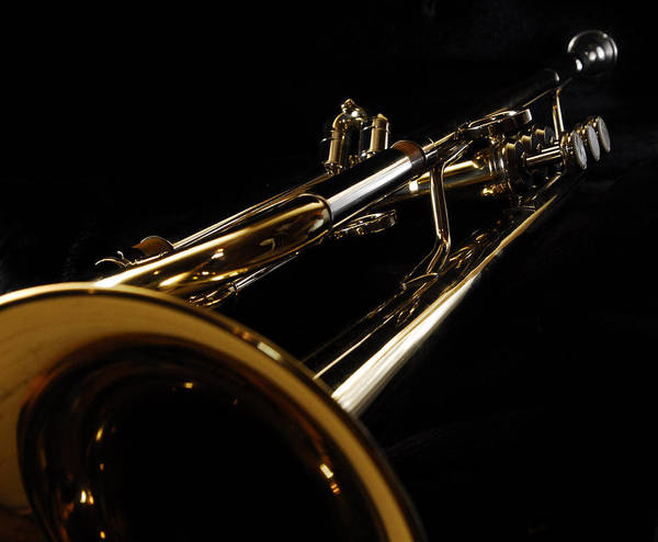 Music Art Print featuring the photograph Trumpet In Perspective by Pictorico