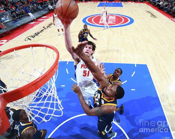 Nba Pro Basketball Art Print featuring the photograph Utah Jazz V Detroit Pistons by Brian Sevald