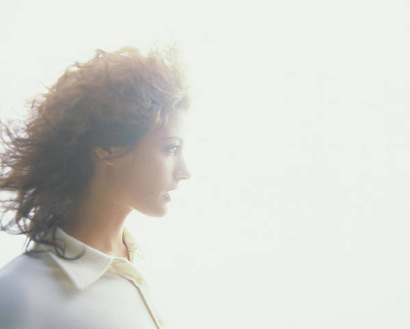 Beautiful Woman Art Print featuring the photograph Young Woman, Profile Soft Focus by Thomas Barwick