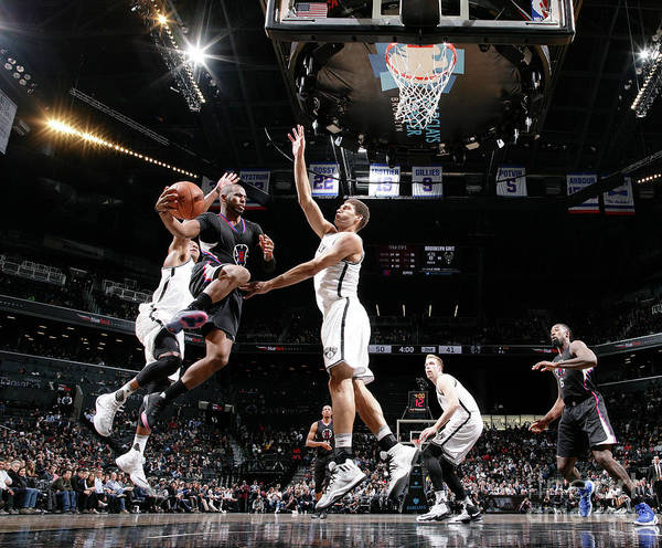 Nba Pro Basketball Art Print featuring the photograph Brook Lopez and Chris Paul by Nathaniel S. Butler