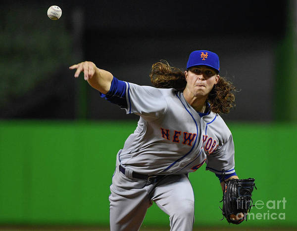 Jacob Degrom Art Print featuring the photograph Jacob Degrom by Mark Brown