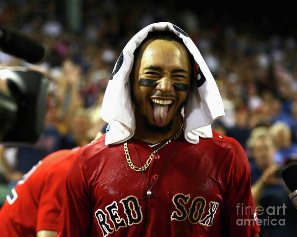 People Art Print featuring the photograph Mookie Betts by Omar Rawlings