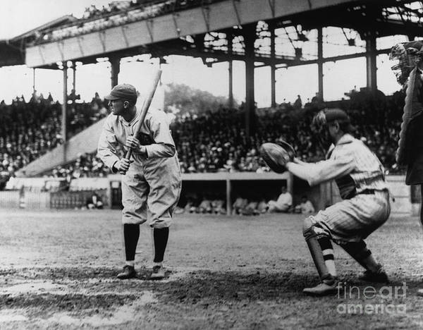 Baseball Catcher Art Print featuring the photograph Ty Cobb by National Baseball Hall Of Fame Library