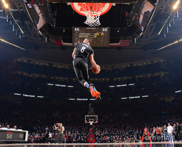 Event Art Print featuring the photograph Zach Lavine by Jesse D. Garrabrant