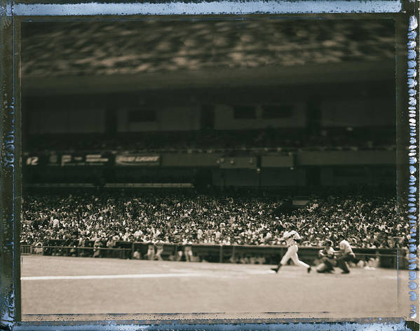 American League Baseball Art Print featuring the photograph Derek Jeter by Al Bello