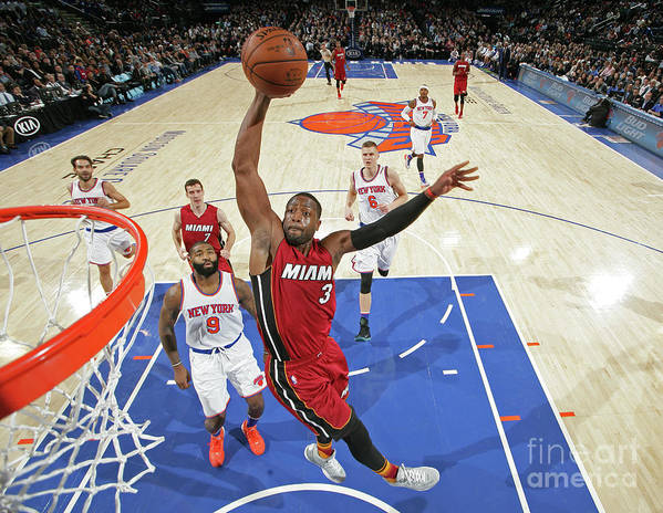 Nba Pro Basketball Art Print featuring the photograph Dwyane Wade by Nathaniel S. Butler