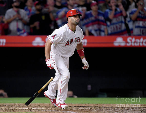 Ninth Inning Art Print featuring the photograph Albert Pujols by Harry How