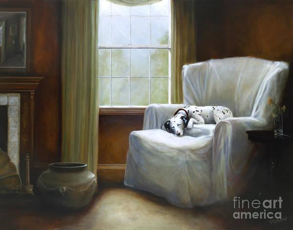 Violano Art Print featuring the painting Afternoon Nap by Stella Violano