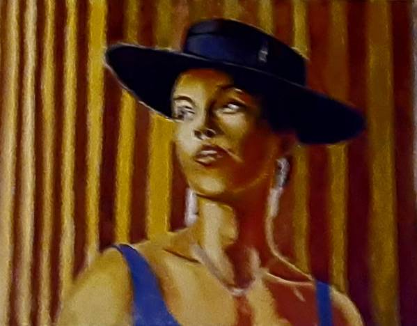 Portrait Art Print featuring the painting Alica by Andrew Johnson