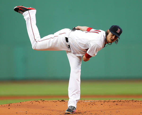 American League Baseball Art Print featuring the photograph Clay Buchholz by Jim Rogash