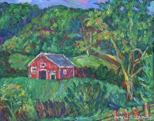 Rural Art Print featuring the painting Clover Hollow in Giles County by Kendall Kessler