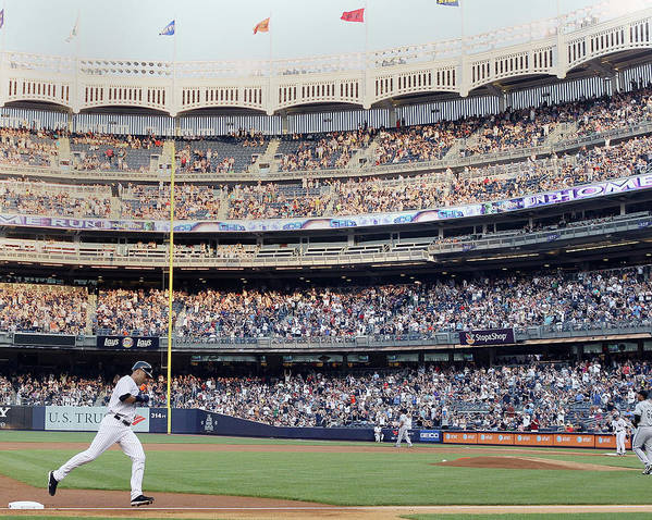 People Art Print featuring the photograph Derek Jeter and Curtis Granderson by Elsa