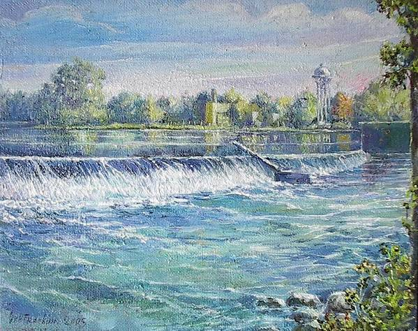Art Print featuring the painting Eel river of Indiana by Oksana Franklin