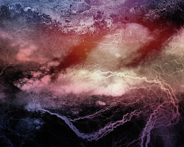 Digital Art Print featuring the digital art Elemental by Linda Lee Hall