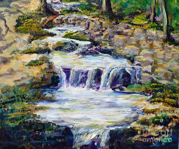 Los Angeles Art Print featuring the painting Fern Dell Creek Noon by Randy Sprout