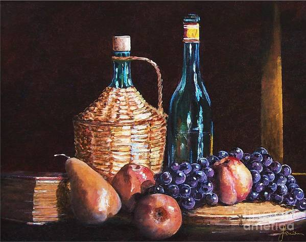 Still Life Art Print featuring the painting Fruits by Sinisa Saratlic