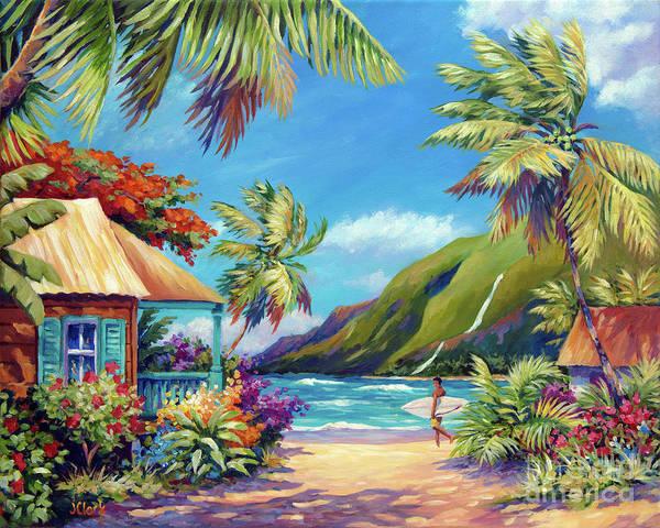 Kauai Art Print featuring the painting Fun Day Ahead by John Clark