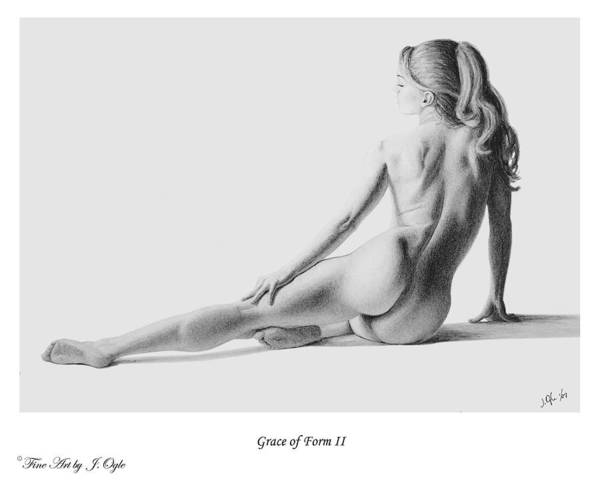 Pastel Art Print featuring the painting Grace Of Form 2  print only by Joseph Ogle