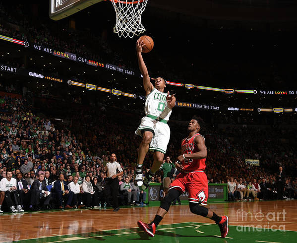 Nba Pro Basketball Art Print featuring the photograph Jimmy Butler and Avery Bradley by Brian Babineau