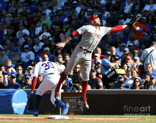 People Art Print featuring the photograph Jon Jay and Joey Votto by David Banks
