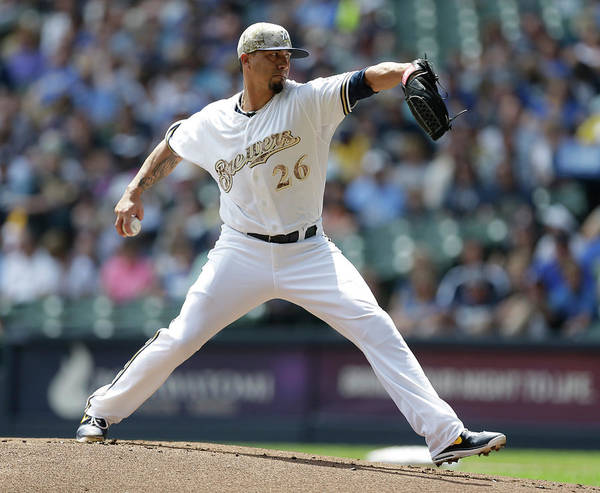 American League Baseball Art Print featuring the photograph Kyle Lohse by Jeffrey Phelps