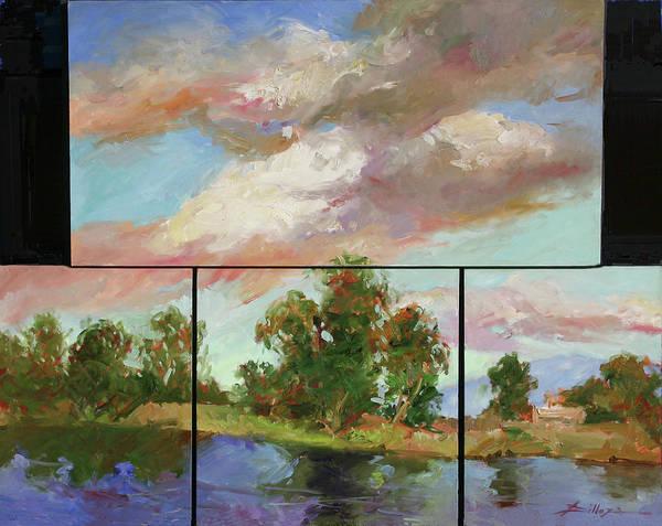 Murals Art Print featuring the painting Last of Sand Creek - Plein Air by Betty Jean Billups