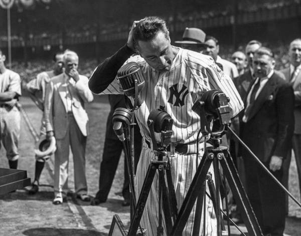 American League Baseball Art Print featuring the photograph Lou Gehrig by The Stanley Weston Archive