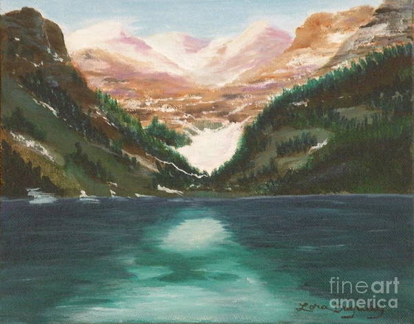 Mendenhall Glacier Art Print featuring the painting Mendenhall Glacier Alaska by Lora Duguay