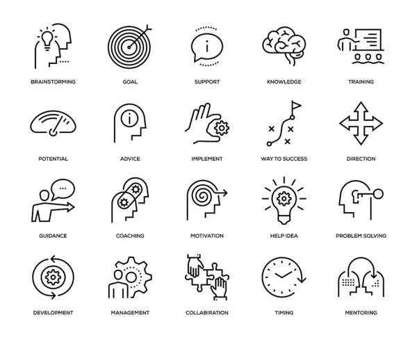 Expertise Art Print featuring the drawing Mentoring Icon Set by Enis Aksoy