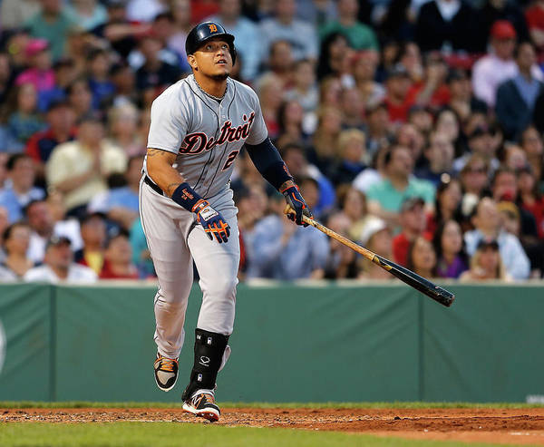American League Baseball Art Print featuring the photograph Miguel Cabrera by Jim Rogash