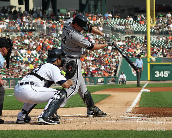 American League Baseball Art Print featuring the photograph Paul Konerko by Dave Reginek