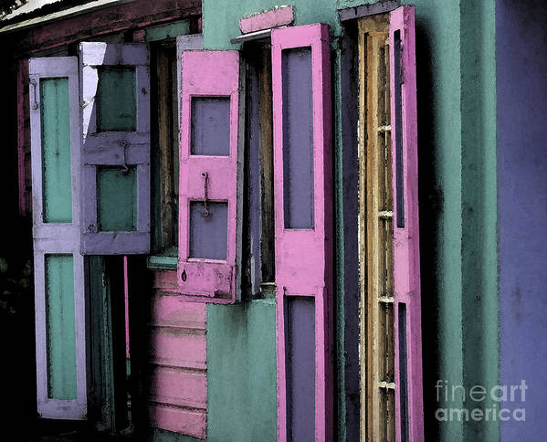 Shutters Art Print featuring the photograph Shutters by Katherine Morgan