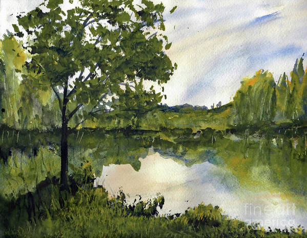 Suwannee Art Print featuring the painting Spring Comes Slowly on the Suwannee River by Randy Sprout