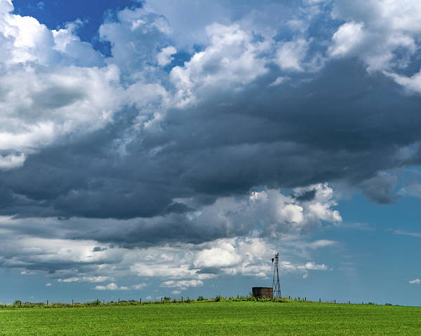 Windmill Art Print featuring the photograph Storm Brewing by Scott Smith