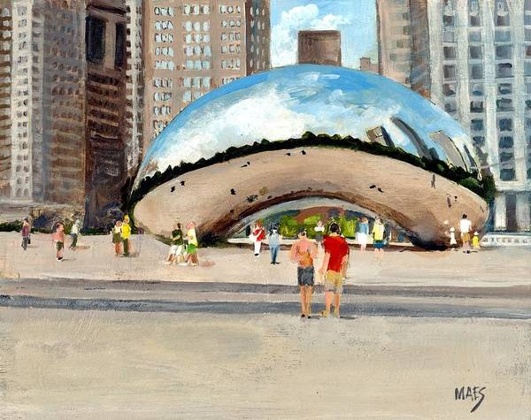 The Chicago Bean by Walt Maes