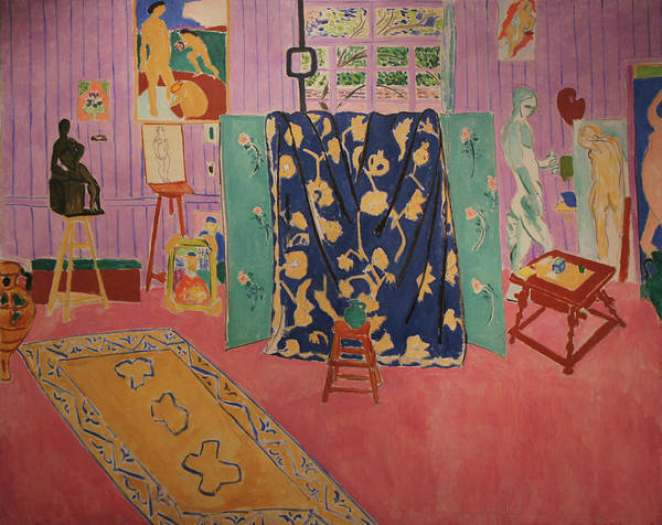 Henri Matisse Art Print featuring the painting The Pink Studio by Henri Matisse