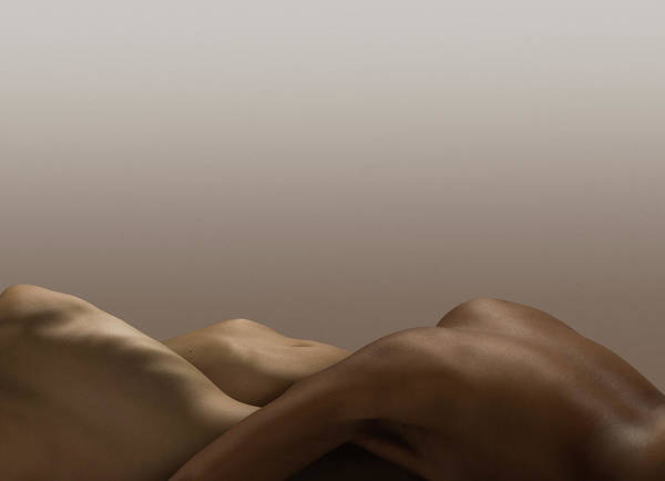 People Art Print featuring the photograph Abstract Nude Bodies, Different Skin by Jonathan Knowles