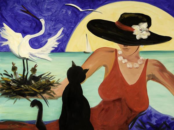 Colorful Art Art Print featuring the painting Living the Dream by Gina De Gorna