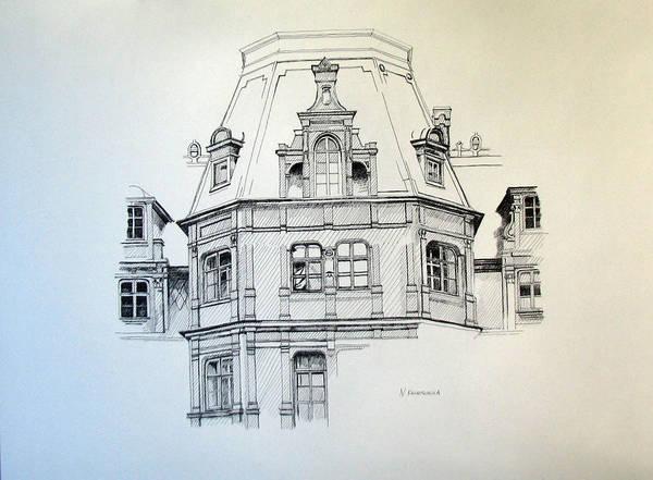 Palace Art Print featuring the painting Sobanski Palace by Nel Kwiatkowska