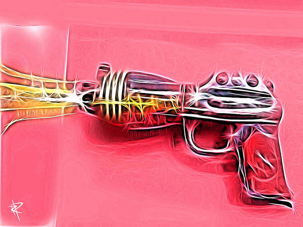 Ray Gun Art Print featuring the mixed media ZAP by Russell Pierce